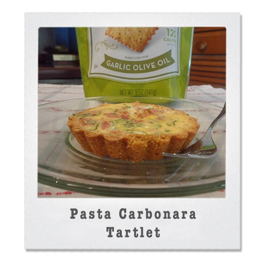 PastaCarbonaraTartlet